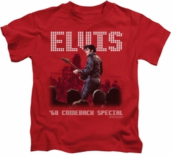 Elvis Presley kids t-shirt Return Of The King red