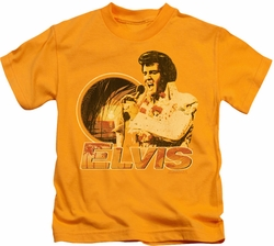Elvis Presley kids t-shirt Singing Hawaii Style gold