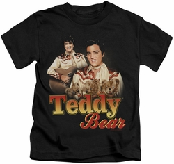 Elvis Presley kids t-shirt Teddy Bear black