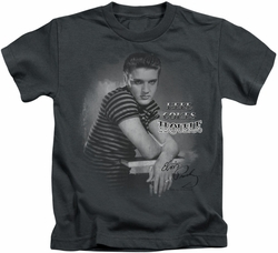 Elvis Presley kids t-shirt Trouble charcoal