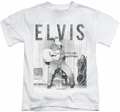 Elvis Presley kids t-shirt With The Band white