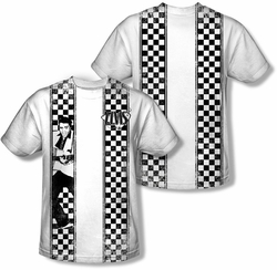 Elvis Presley mens full sublimation t-shirt Checkered Bowling Shirt