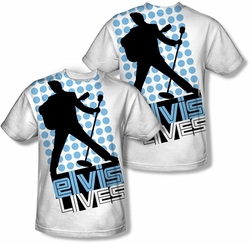 Elvis Presley mens full sublimation t-shirt Livin Large