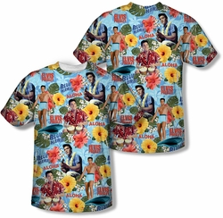 Elvis Presley mens full sublimation t-shirt Surf's Up