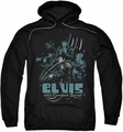 Elvis Presley pull-over hoodie 68 Leather adult black
