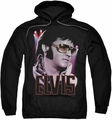 Elvis Presley pull-over hoodie 70's Star adult black