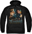Elvis Presley pull-over hoodie 75 Years adult black