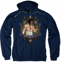 Elvis Presley pull-over hoodie Aloha From Hawaii adult navy