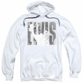 Elvis Presley pull-over hoodie Aloha Gray adult white