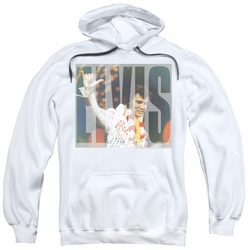 Elvis Presley pull-over hoodie Aloha Knockout adult white