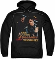 Elvis Presley pull-over hoodie Are You Lonesome adult black