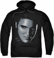 Elvis Presley pull-over hoodie Big Face adult black