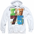 Elvis Presley pull-over hoodie Birthday 2010 adult white