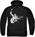 Elvis Presley pull-over hoodie Black & White Guitarman adult black