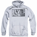 Elvis Presley pull-over hoodie Block Letters adult athletic heather