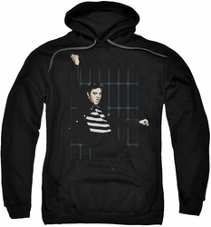 Elvis Presley pull-over hoodie Blue Bars adult black