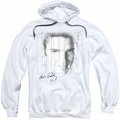 Elvis Presley pull-over hoodie Blue Eyes adult white