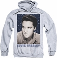 Elvis Presley pull-over hoodie Blue Sparkle adult athletic heather