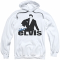 Elvis Presley pull-over hoodie Blue Suede adult white
