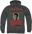Elvis Presley pull-over hoodie Buffalo 1956 adult charcoal