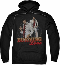 Elvis Presley pull-over hoodie Burning Love adult black