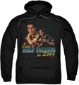Elvis Presley pull-over hoodie Can't Help Falling adult black