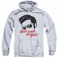 Elvis Presley pull-over hoodie Don't Touch The Hair 2 adult athletic heather