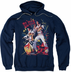 Elvis Presley pull-over hoodie Eagle Elvis adult navy