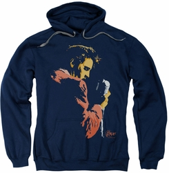 Elvis Presley pull-over hoodie Early Elvis adult navy