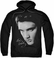 Elvis Presley pull-over hoodie Face adult black