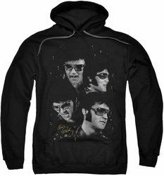 Elvis Presley pull-over hoodie Faces adult black