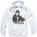 Elvis Presley pull-over hoodie Fighting King adult white