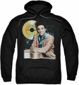 Elvis Presley pull-over hoodie Gold Record adult black