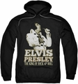 Elvis Presley pull-over hoodie Golden adult black