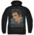 Elvis Presley pull-over hoodie Graphic King adult black