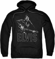 Elvis Presley pull-over hoodie Guitar In Hand adult black