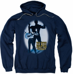 Elvis Presley pull-over hoodie Hands Up adult navy