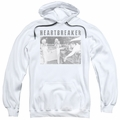 Elvis Presley pull-over hoodie Heartbreaker adult white