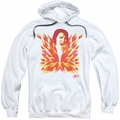 Elvis Presley pull-over hoodie His Latest Flame adult white