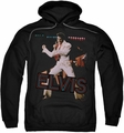Elvis Presley pull-over hoodie Hit The Lights adult black