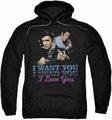 Elvis Presley pull-over hoodie I Want You adult black