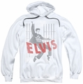 Elvis Presley pull-over hoodie Iconic Pose adult white