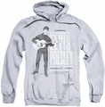Elvis Presley pull-over hoodie In Person adult athletic heather