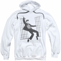 Elvis Presley pull-over hoodie Jailhouse Rock adult white