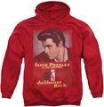 Elvis Presley pull-over hoodie Jailhouse Rock Poster adult red