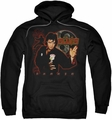Elvis Presley pull-over hoodie Karate adult black