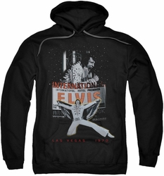 Elvis Presley pull-over hoodie Las Vegas adult black