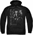 Elvis Presley pull-over hoodie Leathered adult black