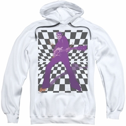 Elvis Presley pull-over hoodie Let's Rock adult white