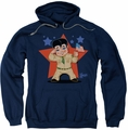 Elvis Presley pull-over hoodie Lil G I adult navy